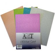 Craft Artist No Shed A4 Glitter Card Cool Tones