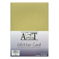 No Shed A4 Glitter Card Gold
