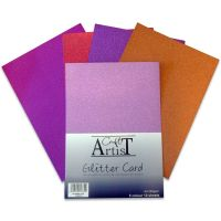 Craft Artist No Shed A4 Glitter Card Warm Tones