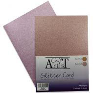 No Shed A4 Glitter Card Blush