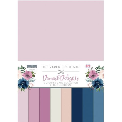 Damask Delights A4 Coloured Card Pack