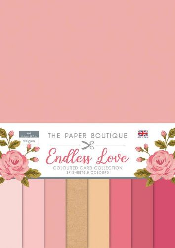 Endless Love A4 Coloured Card Pack