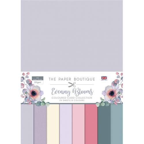 Evening Blooms A4 Coloured Card Pack