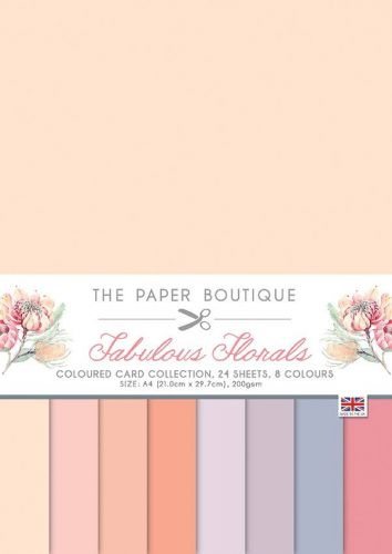 Fabulous Florals A4 Coloured Card Pack
