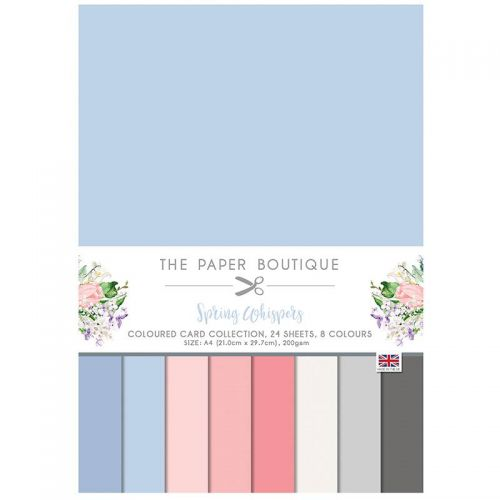 Spring Whispers A4 Coloured Card Pack