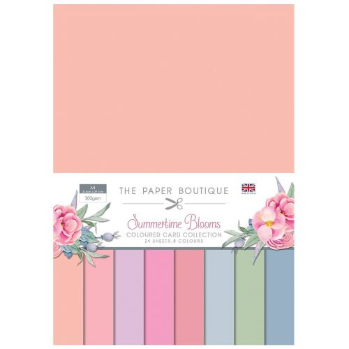 Summertime Blooms A4 Coloured Card Pack