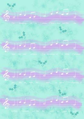 Christmas Music Turquoise