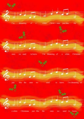 Christmas Music Red