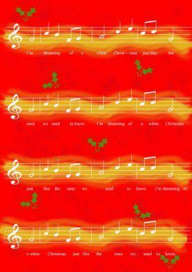 Christmas Music Red