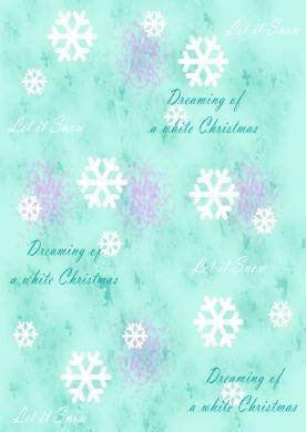 White Christmas Turquoise