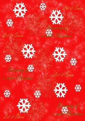 White Christmas Red