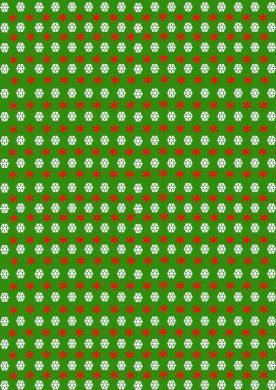 Green Snowflake Paper