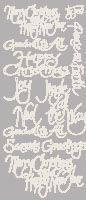 Christmas Greetings Peel Off Stickers Silver