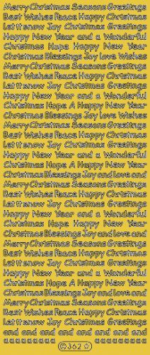 Small Text Christmas Greetings Peel Off Gold