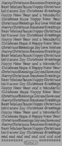 Small Text Christmas Greetings Peel Off Silver (OUT OF STOCK)