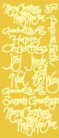 Christmas Greetings Peel Off Stickers Gold