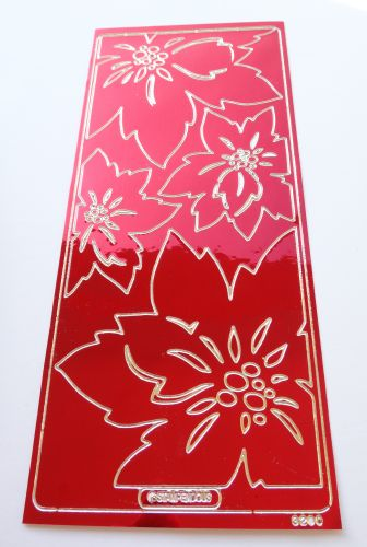 Metallic Red Poinsettia Peel Off