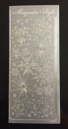 Snowflake Peel Off Stickers Silver