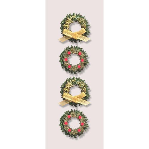 Christmas Boxwood Wreath Stickers