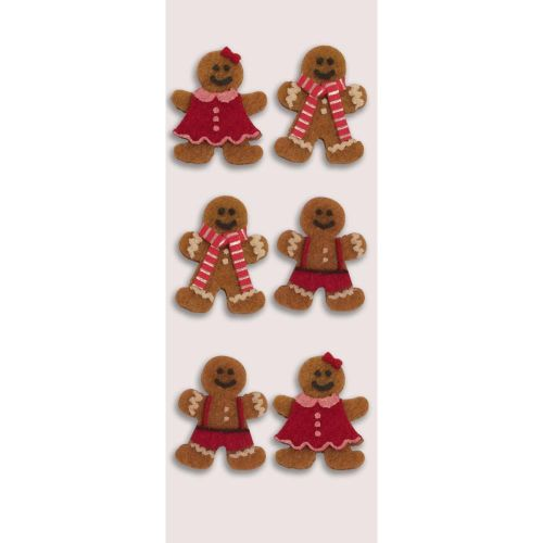 Gingerbread Men Christmas Mini Stickers