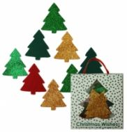 Glitter and Felt Christmas Trees