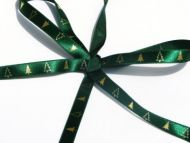 Green and Silver Christmas Tree Ribbon