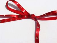 Red and Silver Christmas Tree Ribbon