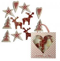 Wooden Printed Christmas Shapes