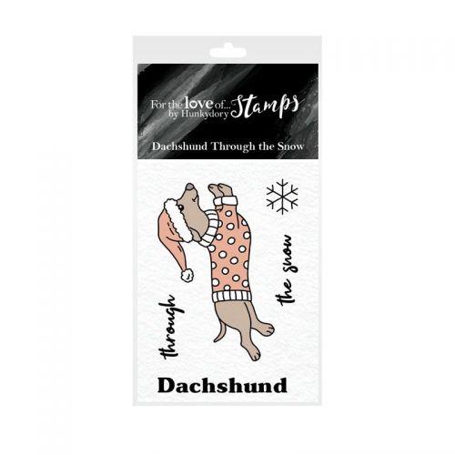 Pocket Sized Puns Daschund Through The Snow Clear Stamp Set