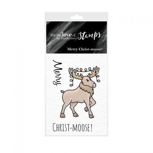 Pocket Sized Puns Merry Christ-Moose Clear Stamp Set