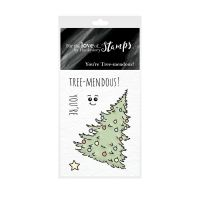 Pocket Sized Puns You're Tree-mendous Clear Stamp Set