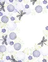 Majestix Dragonfly Garden Clear Stamp Set