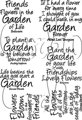 Cardio Garden Quotes Clear Stamp Set