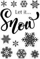 Let It Snow Clear Stamp Set