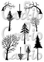 Cardio Mini Tall Trees Clear Stamp Set