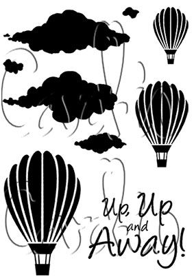 Cardio Up Up and Away Clear Stamp Set