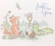 Acorn Woods Just For You Clear Stamp Set