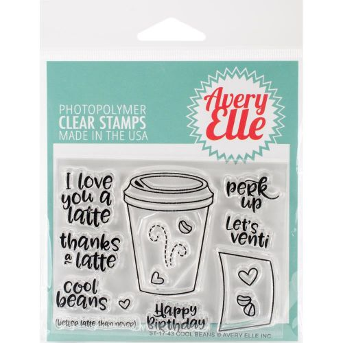 Avery Elle Cool Beans Clear Stamp Set