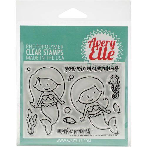 Avery Elle Mermaid Clear Stamp Set