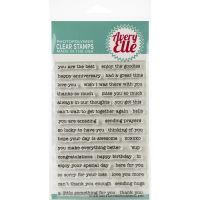 Avery Elle Simple Sentiments Clear Stamp Set