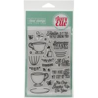 Avery Elle Tea Time Clear Stamp Set