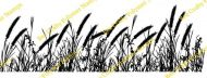 Grasses Border Clear Stamp