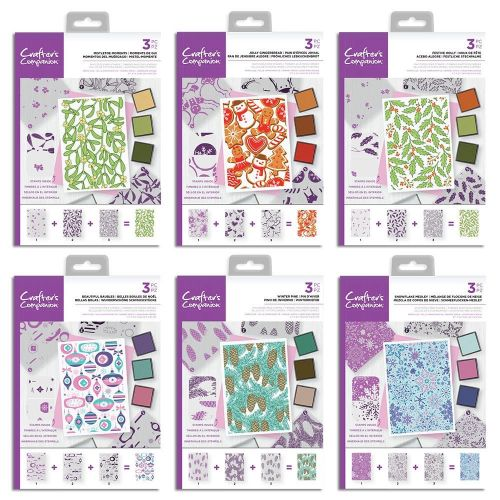 Christmas Layering Background Stamp Sets