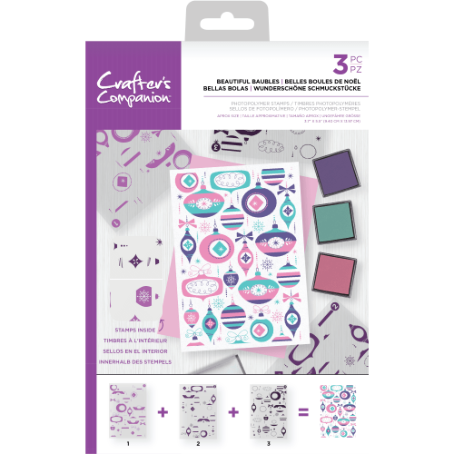 Beautiful Baubles Christmas Layering Background Stamp
