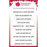 Birthday Strips Sentiment Clear Stamp Set