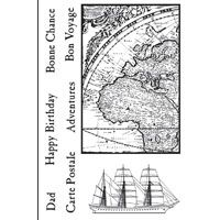Woodware Bon Voyage Clear Stamp Set