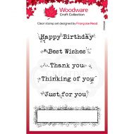 Woodware Boxed Greetings Clear Stamp Set