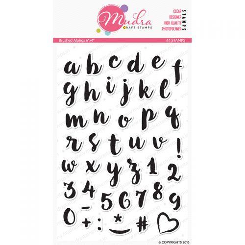 Brush Script Alphabet Clear Stamp Set