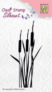 Bulrushes Silhouette Clear Stamp