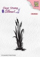 Bulrushes 2 Silhouette Clear Stamp